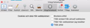 Inställning Safari